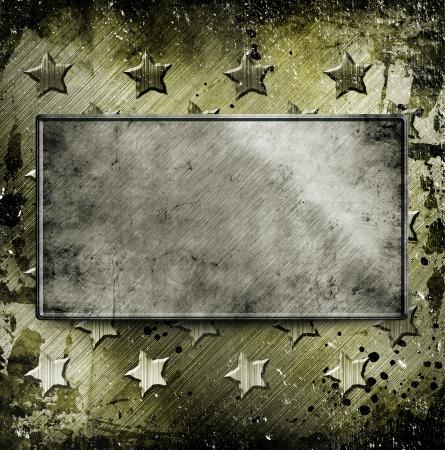 テキストのための場所と軍事グランジ背景 写真素材