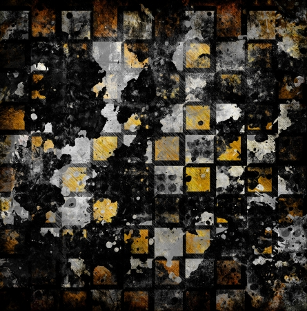 vivid grunge chessboard backgound with stains Stock Photo - 16625213