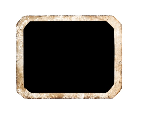Blank frame isolated on white background, with clipping path Stock Photo - 16931497