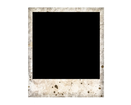 Blank photo frame isolated on white background, with clipping path Stock Photo - 16931480