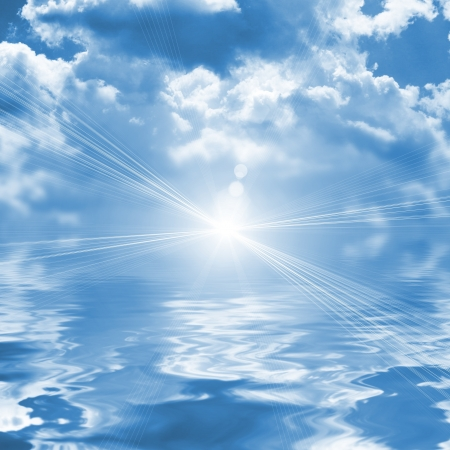 magick: Blue sky reflected in water