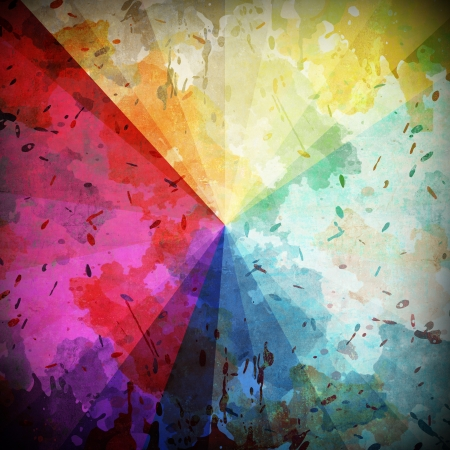spectral color: Spectral color on abstract grunge background Stock Photo