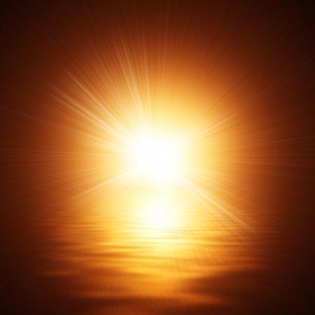 heat sink: Sunshine On The Water  Stock Photo