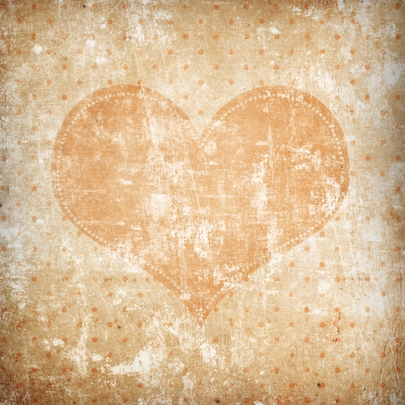 vintage background with heart photo