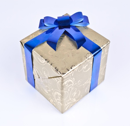 pretty s shiny: christmas gift box on a white background