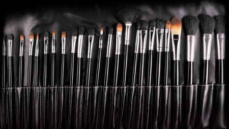 professional cosmetic brushes photo