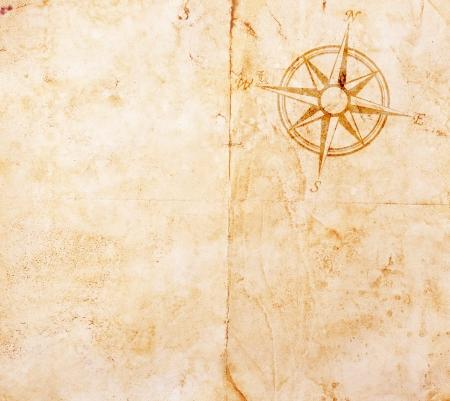 treasure hunt: Old treasure map Stock Photo