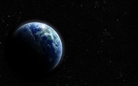 空間に現実的な地球 写真素材