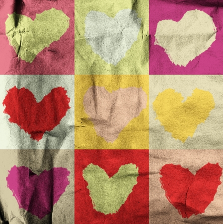 premise: abstract grunge background with hearts