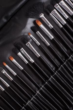 basic care: professional cosmetic brushes Stock Photo