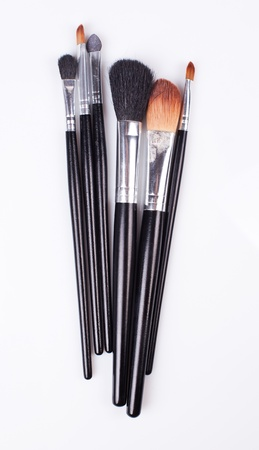 professional cosmetic brushes. Used photo