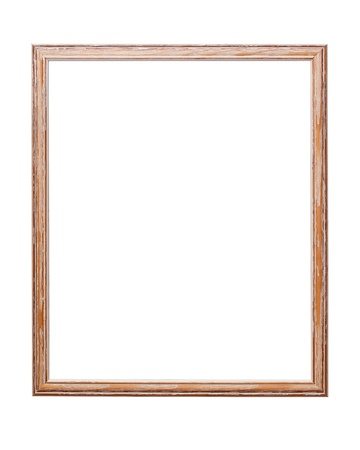 tableau: wooden frame on white background with clipping path  Stock Photo