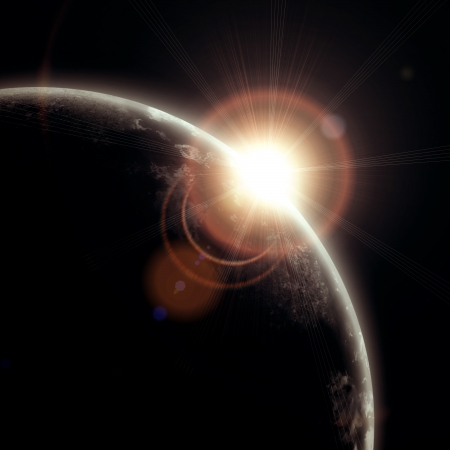 astrophotography: realistic illustration of planets in space