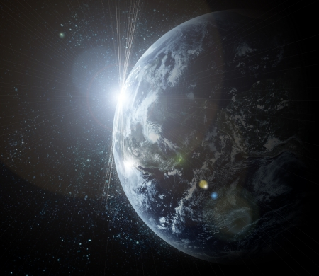 realistic planet earth in space Stock Photo - 17842788