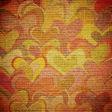 waivers: scattered colorful hearts on canvas
