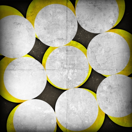 abstract circles on grunge background photo