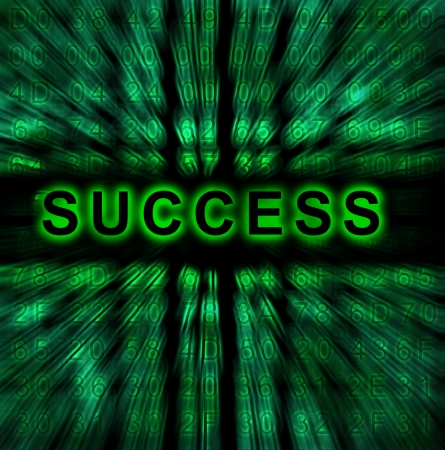 word Success on digital background Stock Photo - 18192468