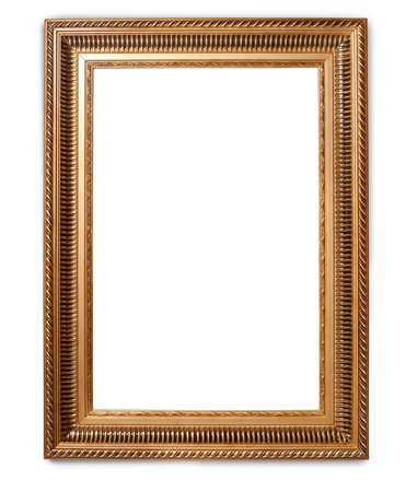 vintage frame on white background with clipping path photo