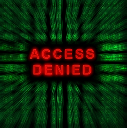 word Access denied on digital background Stock Photo - 18192447
