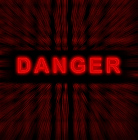 word danger on digital background Stock Photo - 18192351