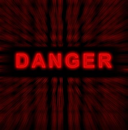 hacked: word danger on digital background