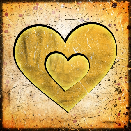 abstract heart on grunge background photo