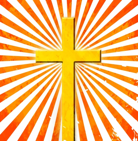 baptist: cross on abstract grunge background