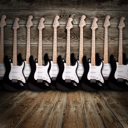 electric guitars in the room photo