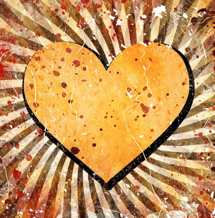 grunge heart with abstract stains Stock Photo - 18744359