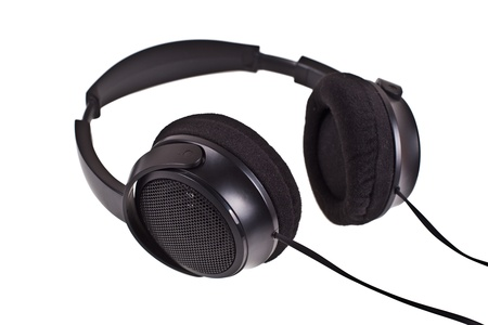 headphones on a white background photo