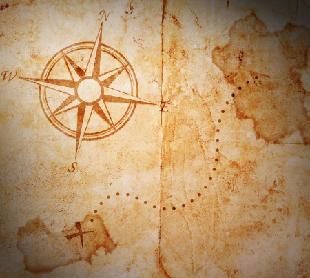 carte trésor: Vieux carte au trésor Banque d'images