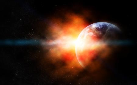paz mundial: el planeta tierra en el espacio real. Los elementos de esta imagen proporcionada por la NASA