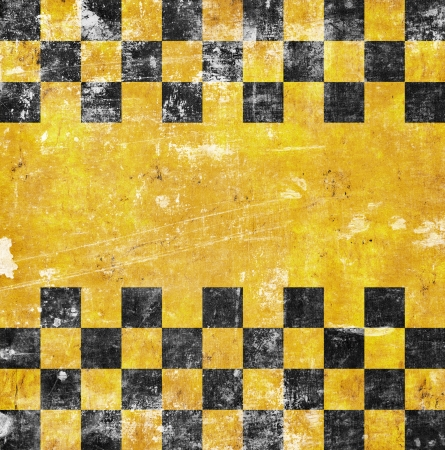 vivid grunge chessboard backgound with place for text Stock Photo - 18744374