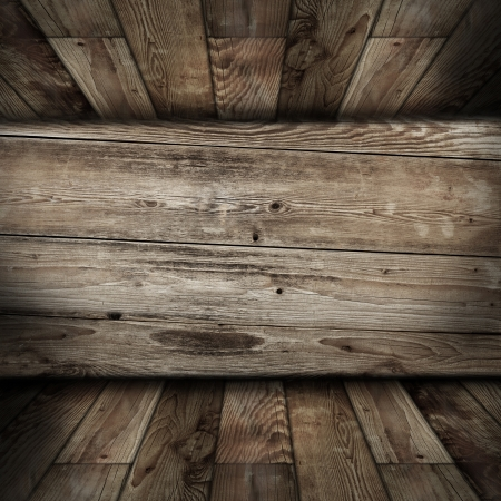 wood room with panel and floor background Stock Photo - 18744328