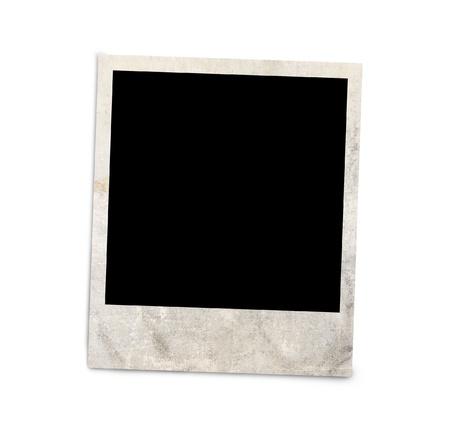 クリッピング パスとの白い背景で隔離の空白のフォト フレーム