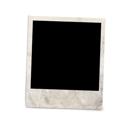 photo album: Blank photo frame isolated on white background, with clipping path