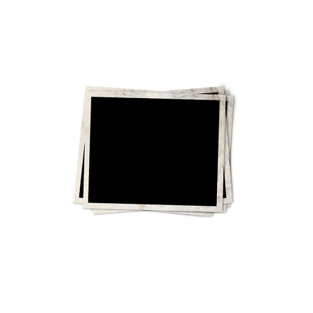 Blank photo frame isolated on white background, with clipping path