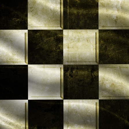 checkered background with folds Stock Photo - 19345285