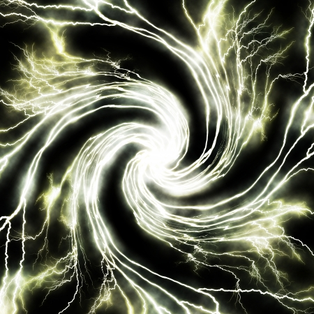 electrocute: Electric flash of lightning background