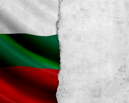 Grunge Bulgaria flag with frame of paper photo