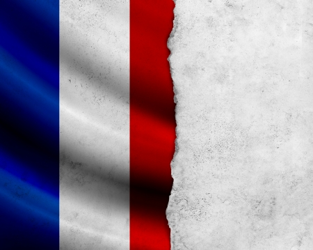Grunge France flag photo
