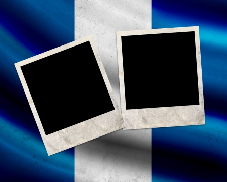 Grunge Guatemala flag with photo frames photo