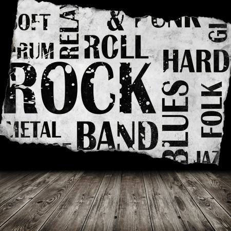 Grunge room with rock style text photo