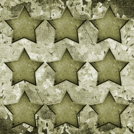 Military Grunge background with abstract stars Stock Photo - 19345653