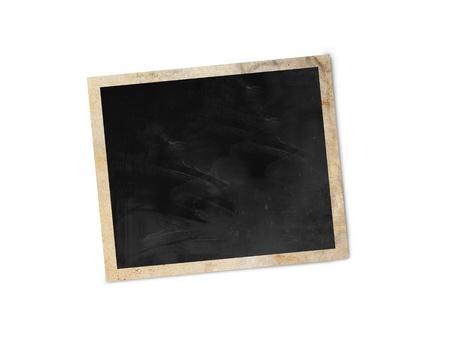 クリッピング パスと白い背景で隔離の空白のフォト フレーム