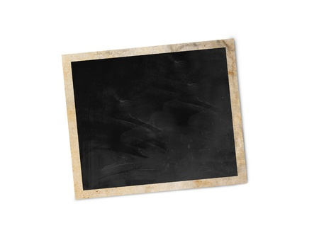 Blank photo frame isolated on white background with clipping path