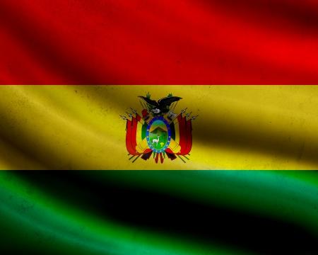 bandera de bolivia: Grunge bandera de Bolivia