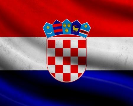 bandiera croazia: Grunge bandiera Croazia Archivio Fotografico