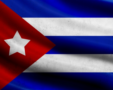 Grunge Cuba flag photo