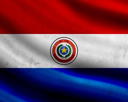 bandera de paraguay: Grunge bandera de Paraguay Foto de archivo